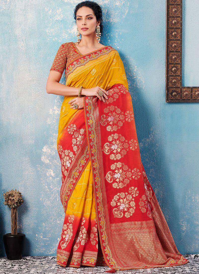 Banglori Silk Sangeet Designer Saree