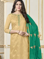 Beige Casual Churidar Designer Suit