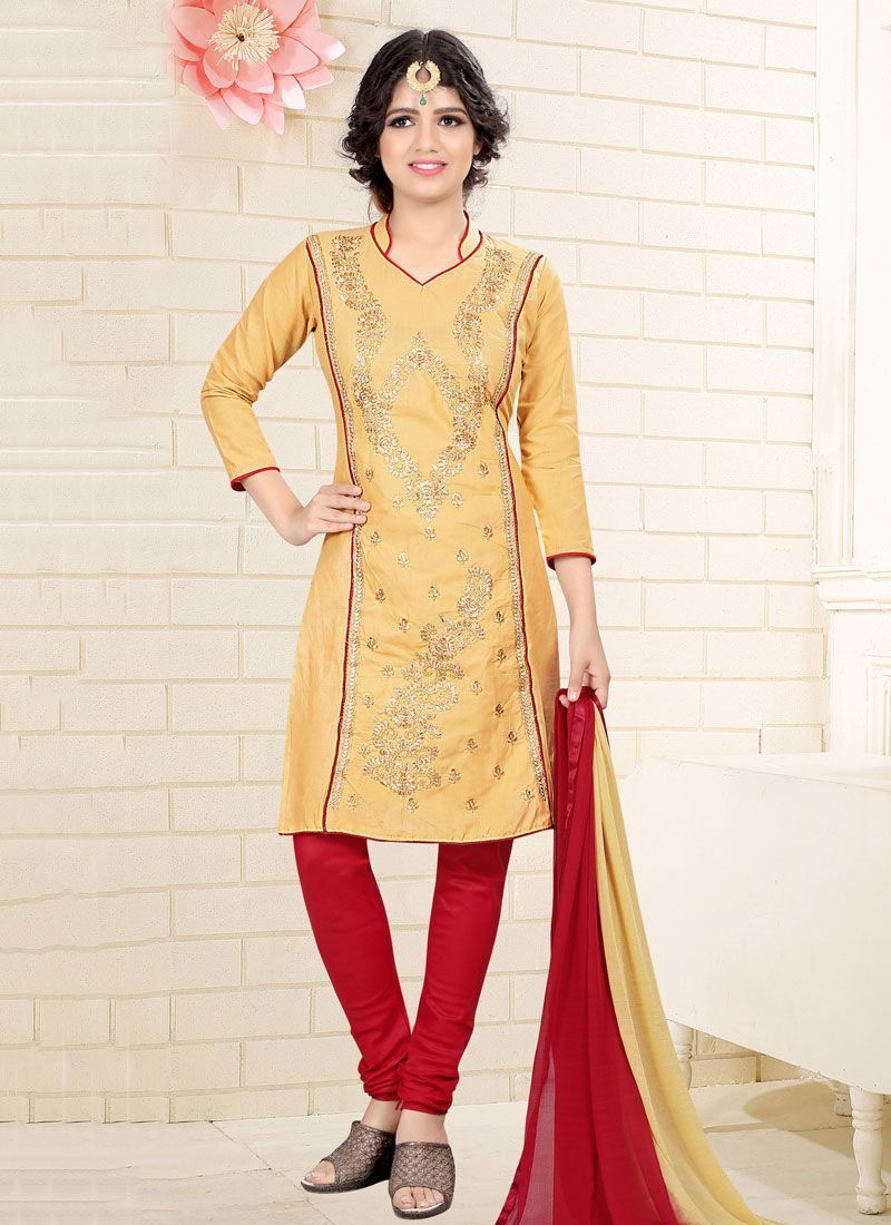 Beige Churidar Suit