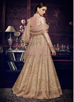 Beige Floor Length Anarkali Suit