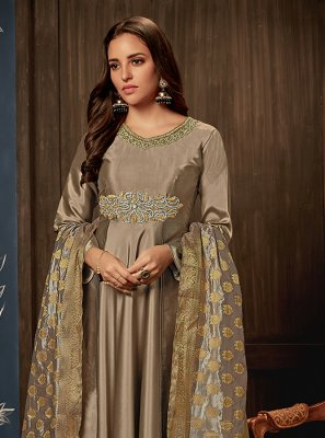 Brown Readymade Gown