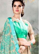 Beige Resham Classic Saree