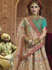 Beige Wedding Art Silk Lehenga Choli