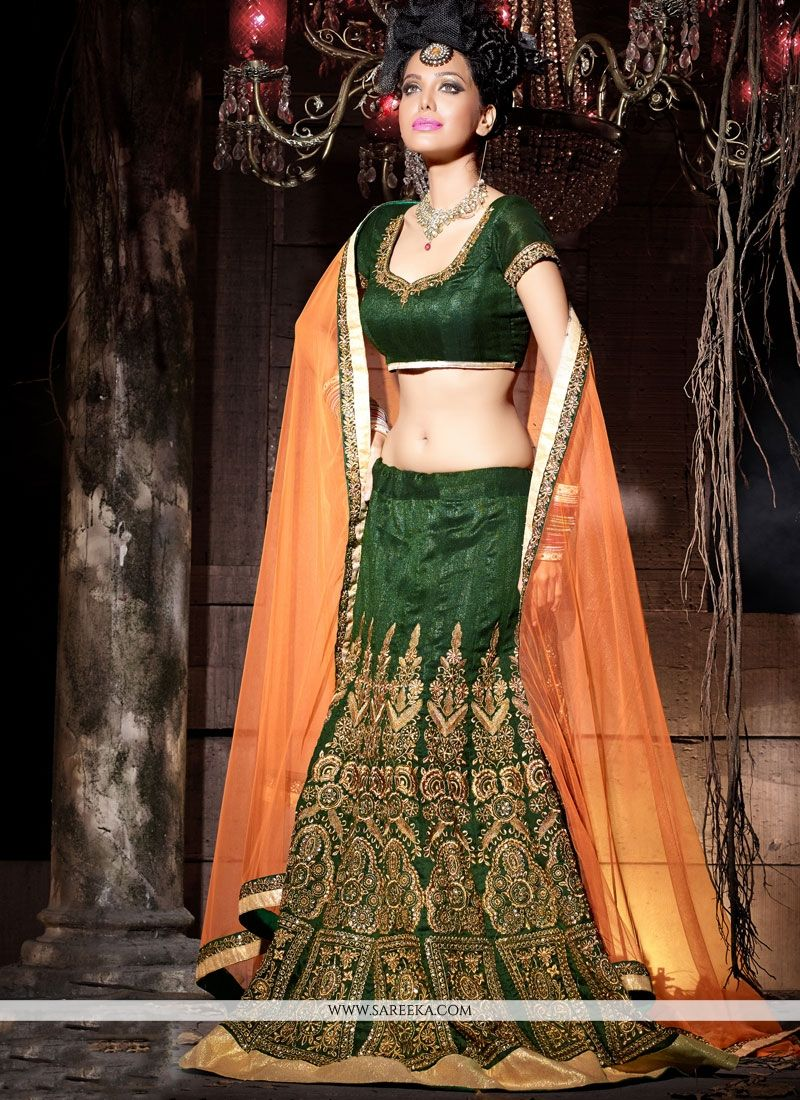 Bhagalpuri Silk Resham Work Lehenga Choli
