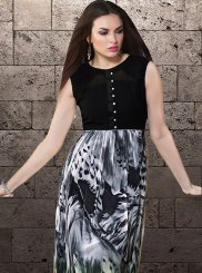 Black and Grey Casual Casual Kurti
