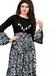 Black and Grey Party Wear Kurti