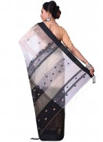Black and Off White Traditional  Saree