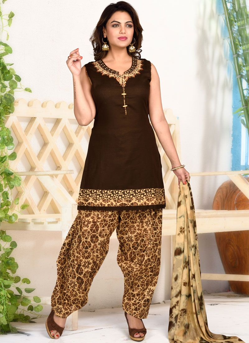 Black Ceremonial Designer Patiala Salwar Kameez