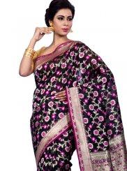 Black Chanderi Zari Classic Designer Saree