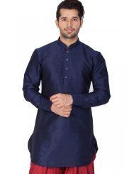 Black Cotton Silk Kurta Pyjama