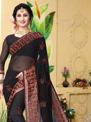 Black Designer Saree