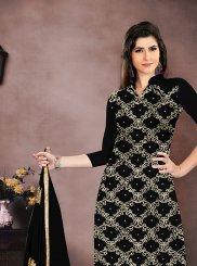 Black Embroidered Salwar Kameez