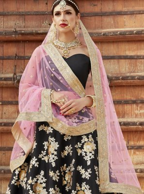 Black Embroidered Work Lehenga Choli