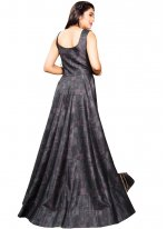 Black Fancy Fabric Readymade Gown