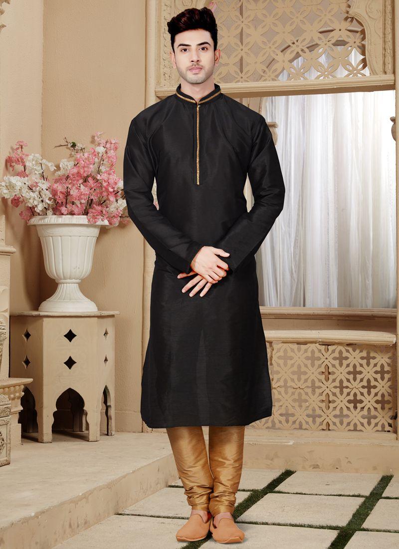 Black Kurta Pyjama