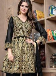 Black Lace Designer Palazzo Suit