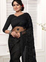 Black Net Wedding Classic Designer Saree