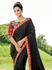 Black Patch Border Party Saree