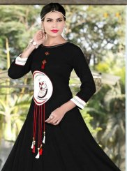 Black Rayon Party Wear Kurti