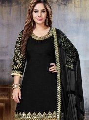 Black Resham Designer Patila Salwar Suit