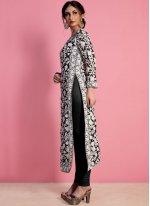 Black Thread Work Work Georgette Churidar Salwar Suit