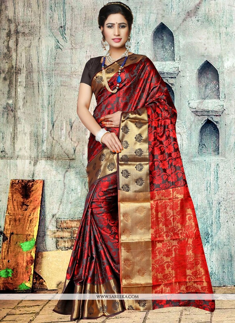 Black Traditional Designer Saree