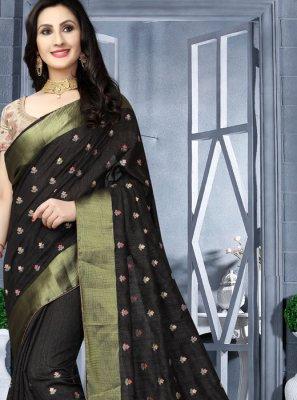 Black Wedding Traditional Saree