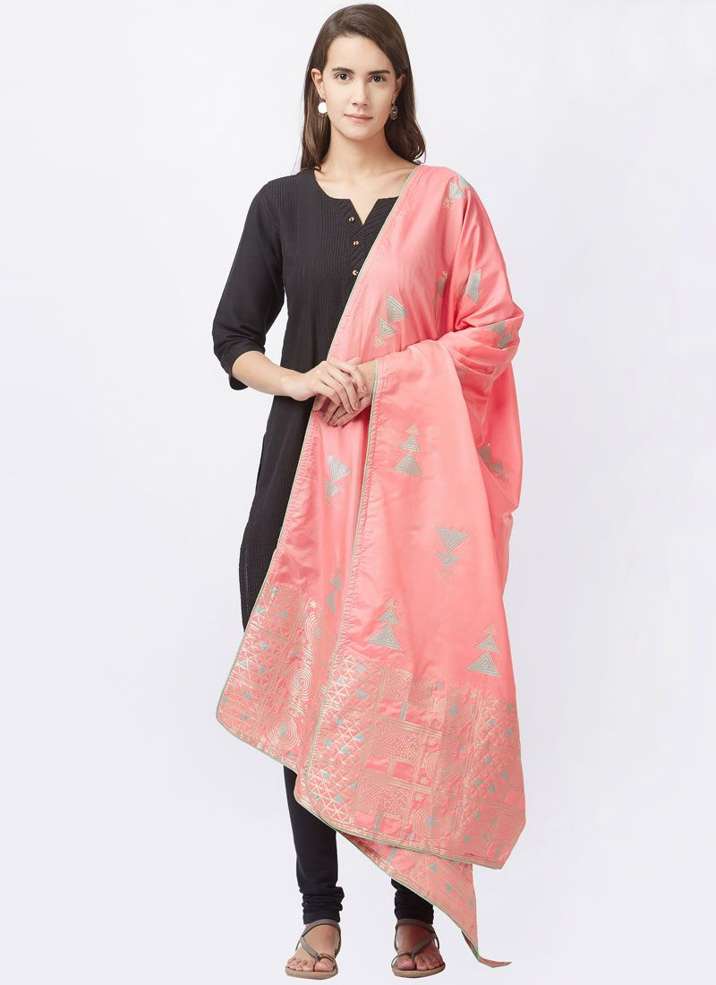 Black woven Work Churidar Suit