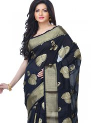 Black Zari Banarasi Silk Classic Designer Saree