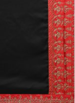 Black Zari Work Silk Designer Saree