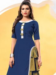 Blue and Green Patchwork Designer Kurti