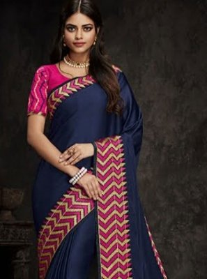 Blue Art Silk Traditional Designer Saree