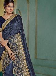 Blue Border Silk Classic Saree