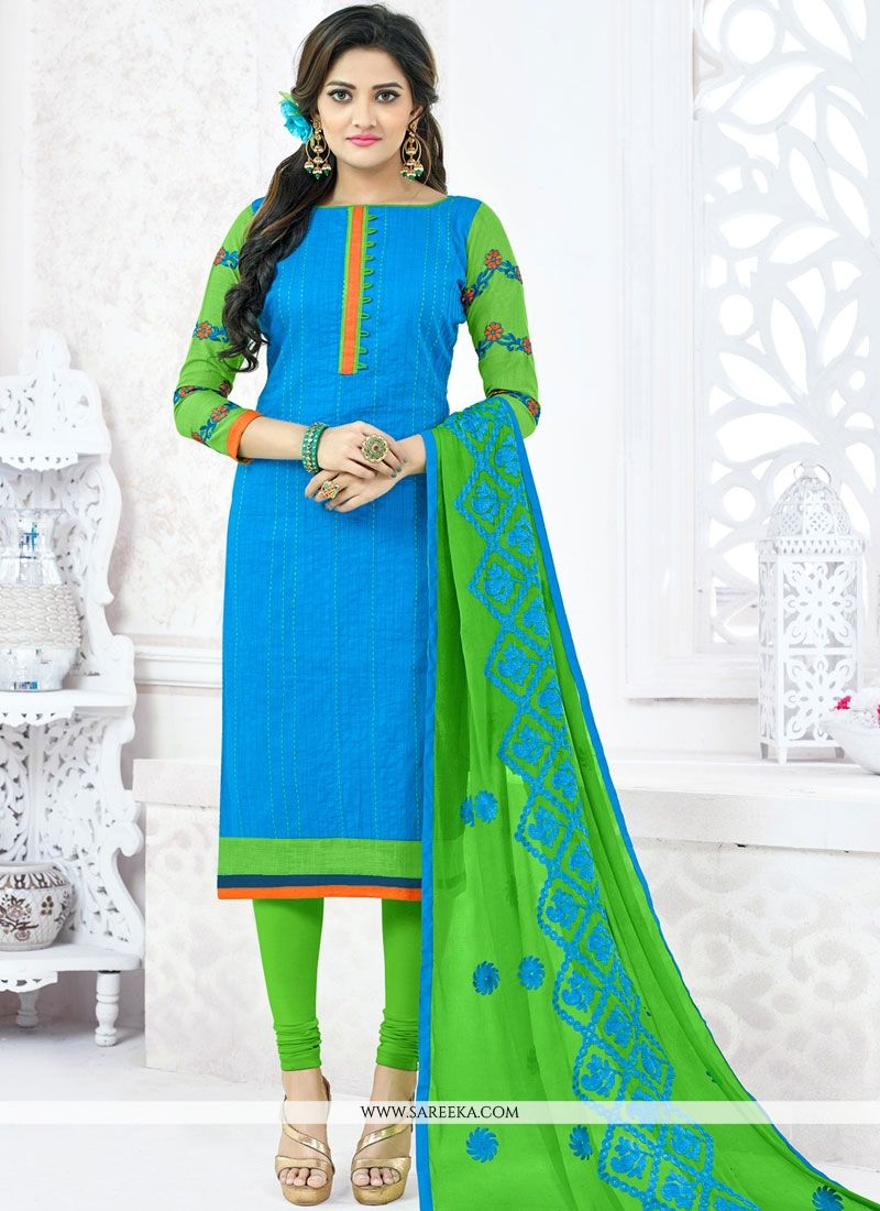 Blue Churidar Suit