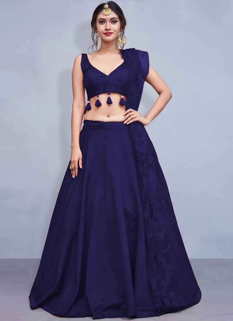 Blue Fancy Sangeet Readymade Lehenga Choli
