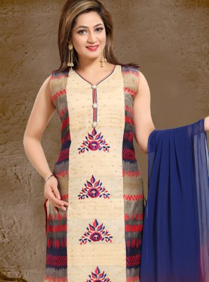 Multi Color Handwork Ceremonial Salwar Suit
