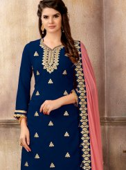 Blue Party Faux Georgette Designer Pakistani Suit