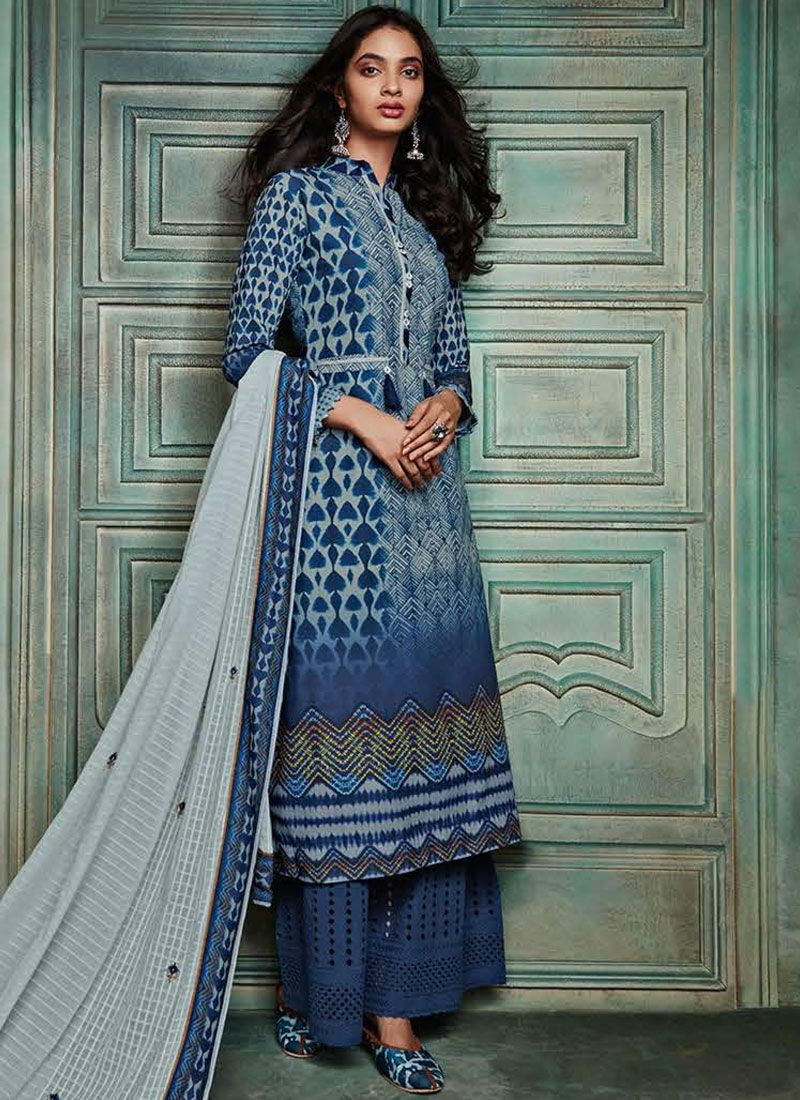 Blue Party Salwar Kameez