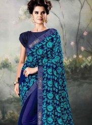 Blue Resham Festival Classic Designer Saree