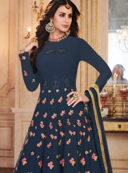Blue Sangeet Anarkali Salwar Suit