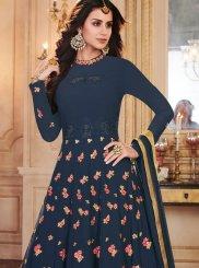 Buy Online Blue Sangeet Anarkali Salwar Suit