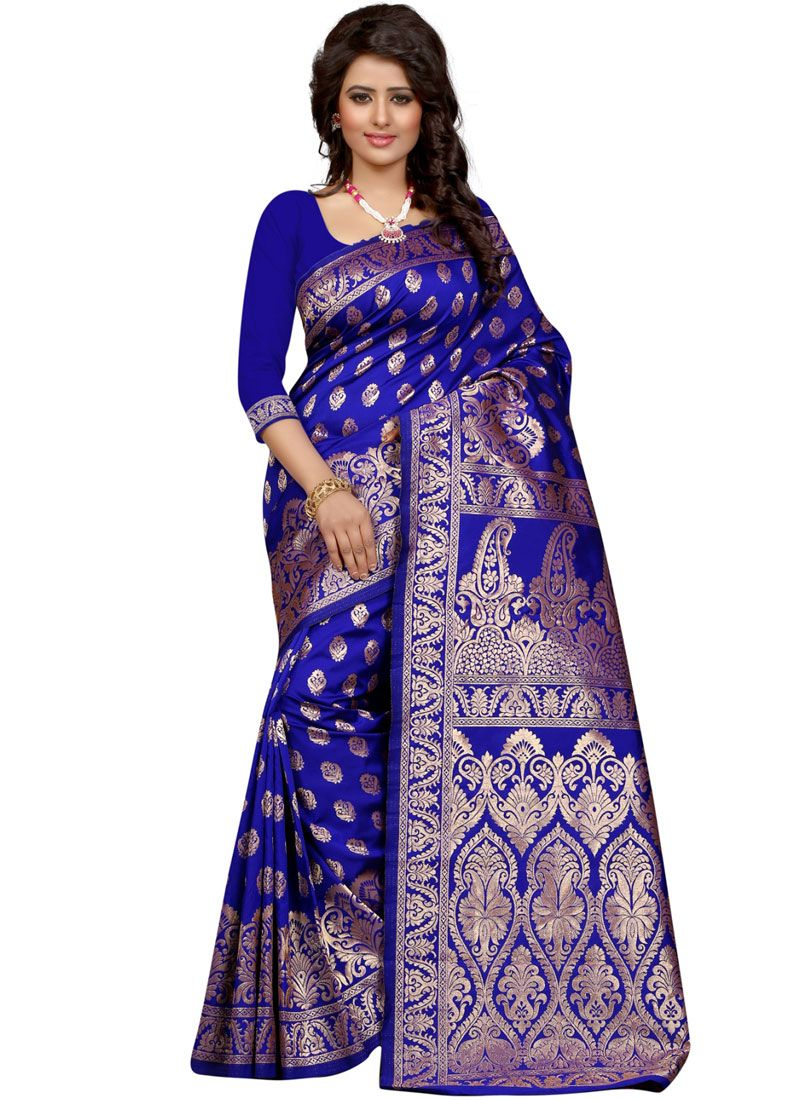 Blue Traditional Designer Saree
