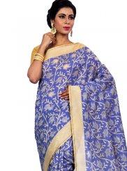 Blue Zari Sangeet Classic Designer Saree