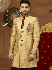 Brocade Embroidered Gold Indo Western