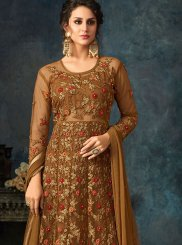 Brown Anarkali Salwar Kameez