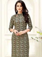Brown and Grey Party Casual Kurti