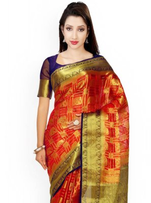 Brown and Rust Classic Saree