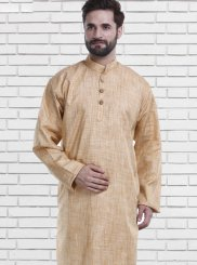 Brown Mehndi Polly Cotton Kurta Pyjama