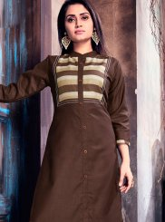 Brown Party Wear Kurti