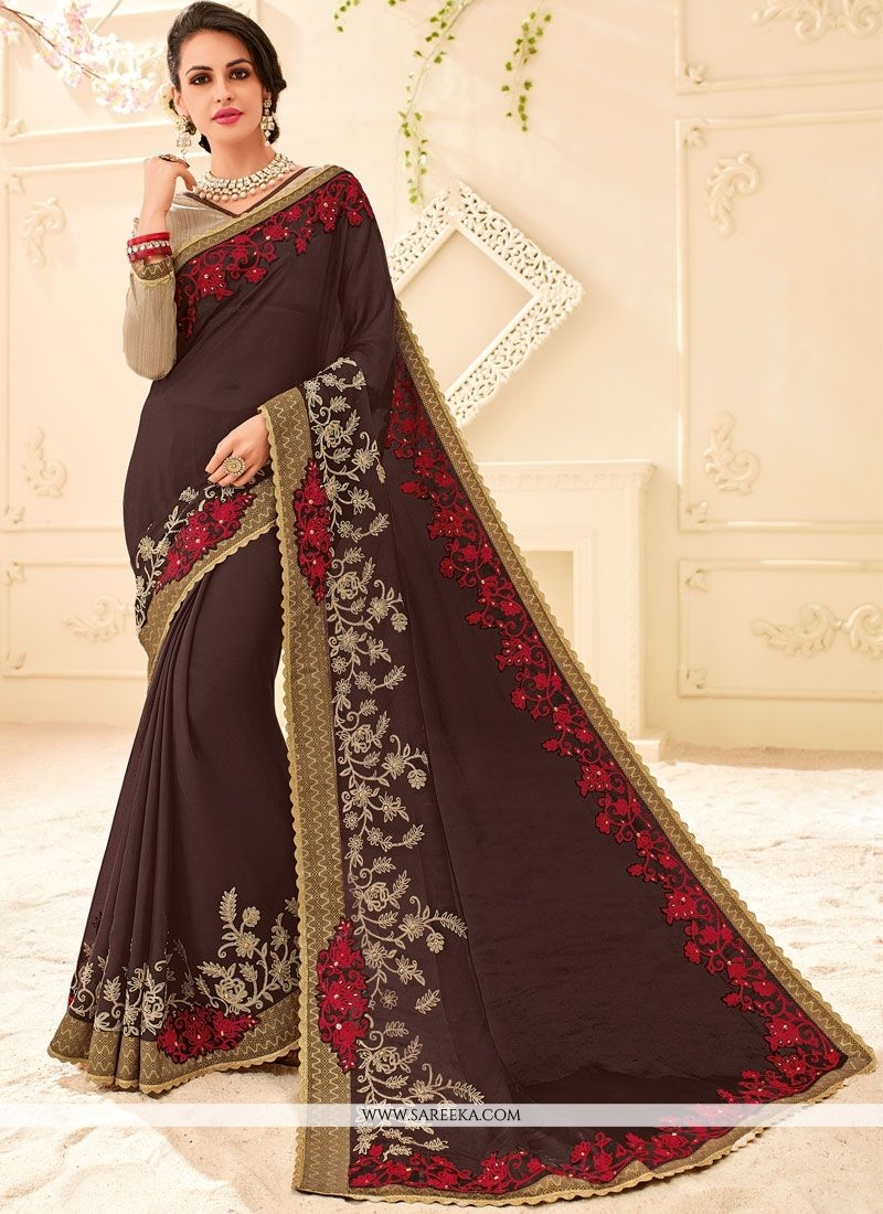 Brown Saree